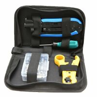 RG6 RG59 RG11 Coax Coaxial Cable Crimper+ Wire Cable Cutter Stripper Tool Kit