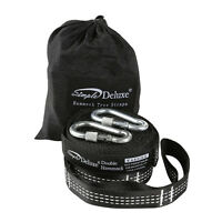 Simple Deluxe Heavy Duty Hammock Straps 2000LBS,10/12FT 32/42 Loops w/Carabiners