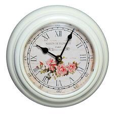 Horloge murale montre blanc roses maison de Florette Paris Shabby Chic BROCANTE