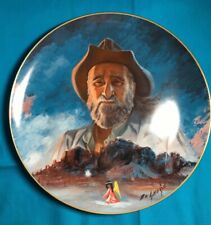 "1983 Ted Degrazia Collectors Plate "" Man and His Mountain """