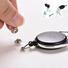Safety Retractable Holder Badge Lanyard Reel Key Card New ID Name Tag Belt Clip