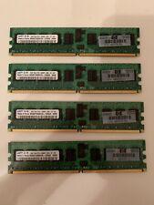 HP/Samsung 4GB 4x1GB 1Rx4 PC2-5300P-555-12-H3 DDR2 CL5 ECC Server Memory RAM