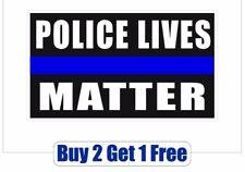 POLICE LIVES MATTER -Bumper Sticker BLM Black BLUE Matter Patriot - GoGostickers