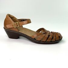 Clarks Bendables Womens Brown Wendy Land 60553 Sandals Strappy Shoes Size 5 M