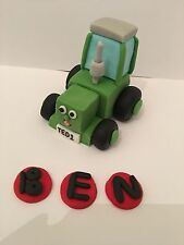 Edible Tractor Tom Name Set  Farm Cake Topper Decoration ( Unofficial )