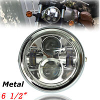 6.5'' 4000LM Moto Phare Projecteur LED Headlight Lamp Pour Harley Bobber Chopper