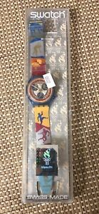 Atlanta 1996 Olympics Special Edition Swiss Made Swatch Chrono Original Box Tags
