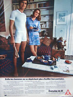 PUBLICITÉ DE PRESSE 1970 EVERYDAY DE JIL LES SOUS-VÊTEMENTS DES MARIES GÂTÉS