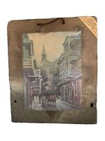 New Orleans Vieux Carre' Charles Street Coleman on Old Roofing Roof Tile Slate