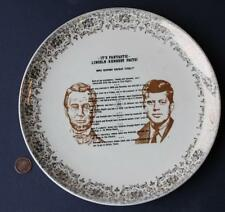 1960s Abraham Lincoln-John F. Kennedy Spooky assassination facts jugate plate!