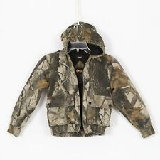 Boys OUTFITTER RIDGE Realtree Hardwood Hunting Jacket Size 7/8  Hooded Insulated