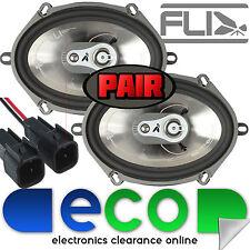 "Ford KA MK1 FLI 6""x8"" 420 Watts 3 Way Front Door Car Speakers & Speaker Leads"
