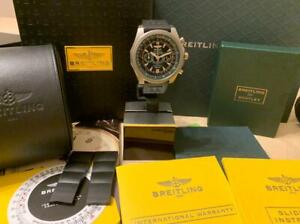 Breitling For Bentley Supersports Light Body Titanium 49mm Green  Box & Papers