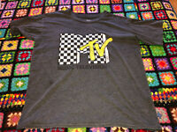 MTV CLASSIC DISTRESSED logo VINTAGE style T-shirt Sz. Mens S