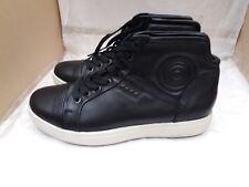 Mens Ecco Soft 7 Black Leather Hi Top Boots Size UK 6.5/EU 40 RRP £120