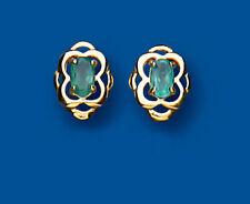 Ovale echter Ohrschmuck mit Smaragd