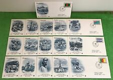 (16) COMPLETE SERIES United Nations Flag Stamps 1980 Covers FDC ADDRESSED HAWAII