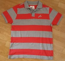 Brook Haven Polo T Shirt Tee Top Grey Red Striped Size XL