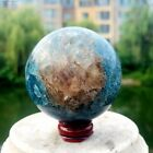 425G+Natural+Blue+Apatite+Phosphate+Crystal+Ball+Sphere+Stone+Healing+Madagascar