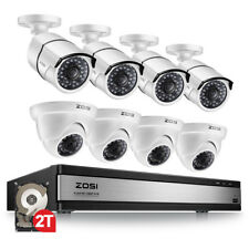 ZOSI 16 Channel 1080P CCTV DVR HD TVI 2 Megapixel Camera CCTV Security System 2T