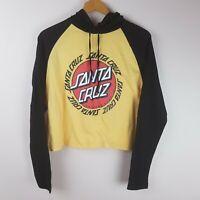 Santa Cruz Top Size 12 Long Sleeve Cropped Hooded