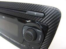 3D Carbon Fibre black radio trim - to fit Seat Ibiza Cupra Bocanegra FR TDI