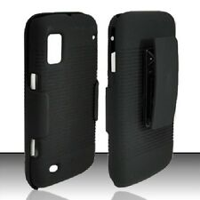 For Boost Mobile ZTE Warp N860 COMBO Belt Clip Holster Case KickStand Black