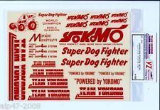 VINTAGE YOKOMO RED DECAL SHEET YZ-10 TEAM ASSOCIATED RC10 JRX2 RC12 TLR 870c NOS