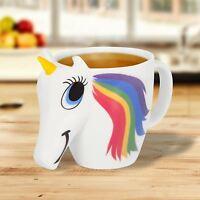 Colour Changing Unicorn Head Shaped Mug 3D Novelty Mum Funny Heat Changing Kids
