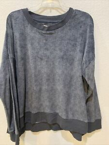 Secret Treasures Super Soft Gray Pajama Sweatshirt Large
