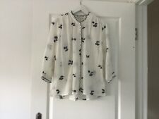 whistles beautiful embroidered shirt size UK10 EU38 with side splits