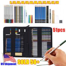 51pcs Professional Drawing Artist Kit Set Pencils Sketch travel Bag