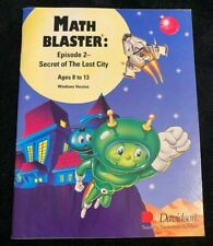 Math Blaster Episode 2 Secret Of The Lost City Ages 8-13 Educational Pc Cd-Rom