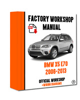 >> OFFICIAL WORKSHOP Manual Service Repair BMW Series x5 E70 2006 - 2013