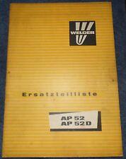 Welger Aufsammelpresse AP 52 / AP52 D Ersatzteilliste