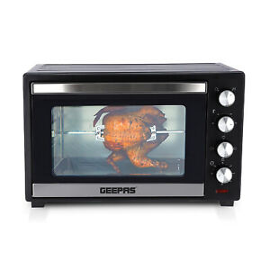 Geepas Electric Mini Oven Grill Toaster Tabletop Compact Portable Baking Cooker