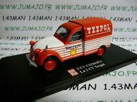 2CVAP54G voiture 1/43 ELIGOR Autoplus CITROËN 2CV n°33 camionette TEEPOL SHELL