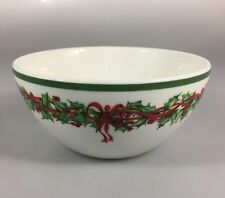 Christopher Radko Traditions Holiday Celebrations Soup Cereal Bowl Christmas