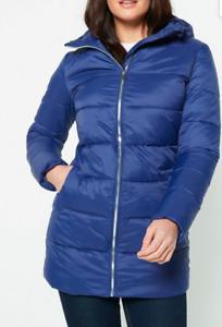 New Womens Studio Padded Coat Jacket Navy UK 18 (L3)