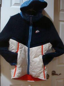 Men's Nike Heritage Sherpa Full Zip Jacket CU4446 451 Size S~2XL