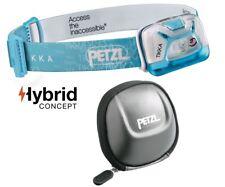 Petzl TIKKA Blau inkl. POCHE Schutztasche und Batterien - max. 200 Lumen
