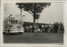PHOTO ANCIENNE - VINTAGE SNAPSHOT -VÉLO CYCLISME TOUR DE FRANCE AUTOBUS CARAVANE