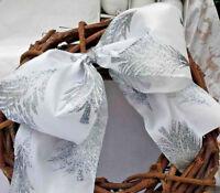 Beautiful WHITE /& GLITTER SILVER SATIN HAPPY BIRTHDAY Ribbon 15mm CGC97WH