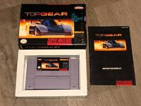 Top Gear 1 Super Nintendo Snes Complete CIB First Print Excellent Cond Authentic