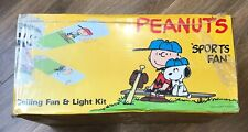 "Sisco ""Peanuts"" Sports Ceiling Fan and Light Kit, NIB #4224-SP 1988"