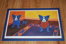 George Rodrigue Blue Dog Butterflies Are Free Silkscreen Print  Signed Artwork