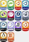 Linux Laptop Desktop Badge, Set of 10 Replacement Badges (Select your distro)
