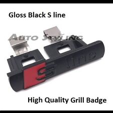 High Quality Audi S-Line Gloss Black Grill Badge Emblem Decal Grille S Line