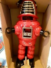 HA HA TOY RED TIN WIND UP MECHANICAL PLANET ROBOT MINT