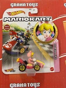 Cat Peach Standard Kart 2021 Hot Wheels Super Mario Kart Case N